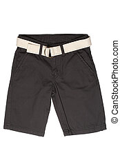 -, jean, shorts, desgaste filhos