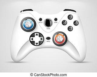 -, jogo, vídeo, controlador, gamepad