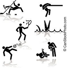 -, juegos, 3, olímpico, humor