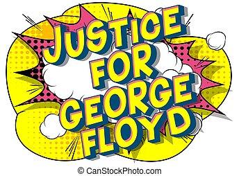 -, justice, floyd, comique, george, style, mot, livre