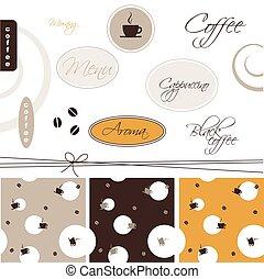 -, kaffe, elementara, design