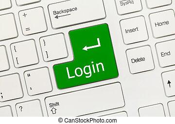 -, key), klawiatura, konceptualny, login, biały, (green