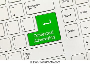 -, key), pubblicità, tastiera, concettuale, bianco, ...