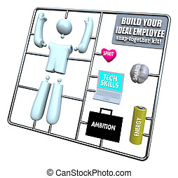 -, kit, idéal, construire, employé, modèle, ton