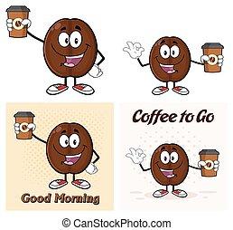 -, koffie, 5, boon, verzameling