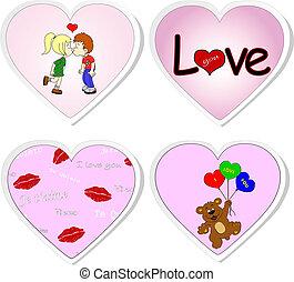 -, komplet, 2, majchry, miłość