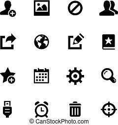 --, komunikacja, ikony, czarnoskóry, seria