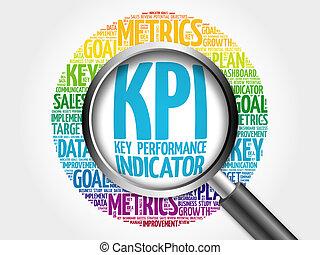 -, kpi, llave, indicador, rendimiento