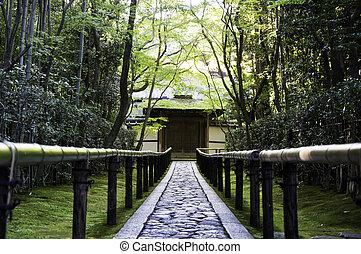 -,  Kyoto,  koto-in,  sub-temple, Japão,  daitoku-ji