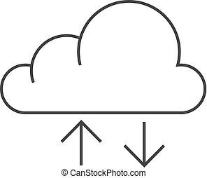 -, lagerung, grobdarstellung, wolke, ikone