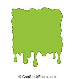 -, limo, ilustración, drips., vector, verde