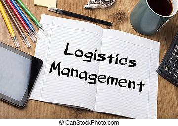 -, logistique, tampon, gestion, texte, note