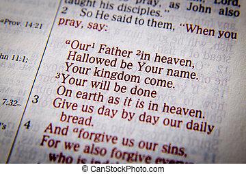 -, lord's, modlitwa, ojciec, niebo, nasz