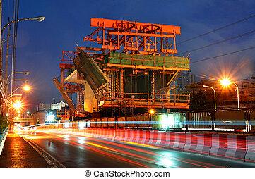 -, luogo, costruzione, treno, min., 24:, cielo, bts, luglio, ferrovia, bangkok