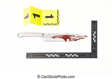 -, métal, crime, violent, sanguine, couvert, évidence, couteau