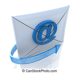 ?-mail Envelope and blue arrow
