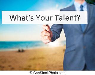 -, main, ある何が, 手, 才能, 保有物, 印, ビジネスマン, あなたの