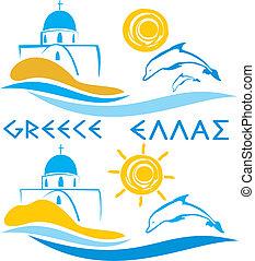 -, mar aegean, grécia