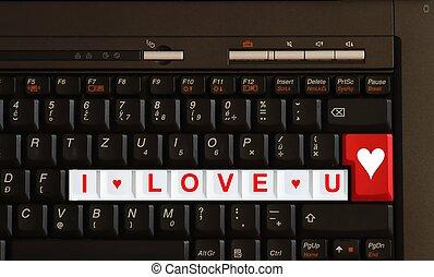 -, message, amour, vous, valentin