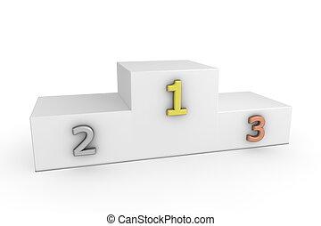 -, metálico, podio, victoria, plantilla, números