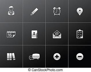 -, metalic, colaboración, grupo, iconos