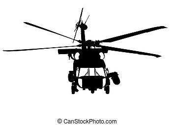 -, mh-60, jayhawk, u..s.., frente, sikorsky, fondo blanco, ...