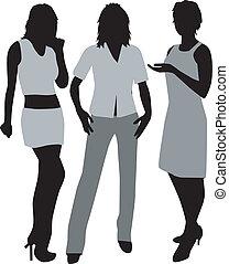 -, mode, habillement, détails, femmes