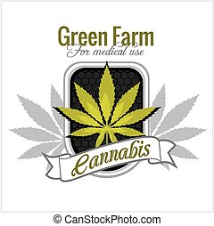 -, monde médical, cannabis., marijuana, vecteur, use., set.