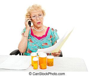 -, monde médical, dépenses, femme aînée