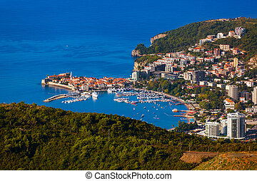 -, montenegro, kuesten, budva