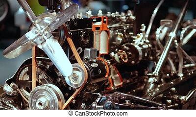 -, moteur, conception, 4k, retro, voiture