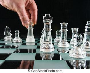 -, mouvement, dernier, échecs