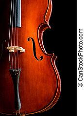 -, muziek kamer, donker, viool, concept