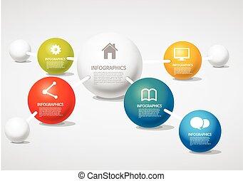 -, nätverk, info-graphic