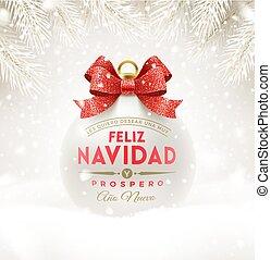 -, navidad, noël, feliz, salutations, espagnol