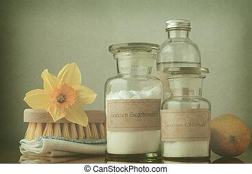 -, nettoyage, traité, printemps, croix, naturel