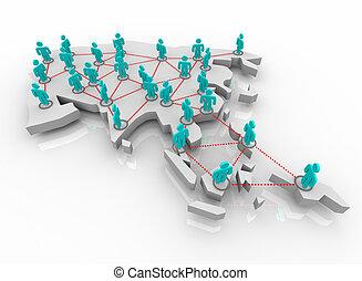 -, netwerk, azie, mensen