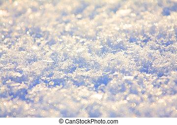 -, neve, textura, cima, fundo, fim, faíscas, brilhar