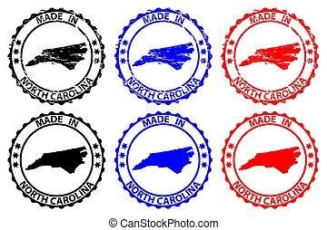 -, nord, fatto, carolina, francobollo, gomma