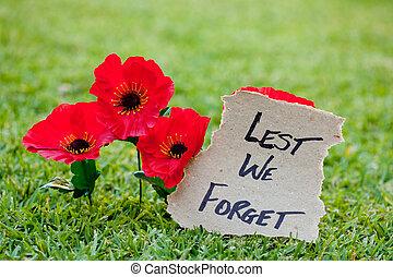 -, nous, lest, rememberance, oublier, anzac