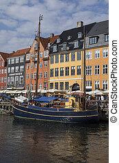 -, nyhavn, danemark, copenhague