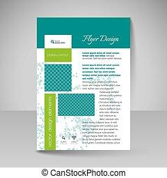 -, ontwerp, flyer, opmaak, bouwterrein