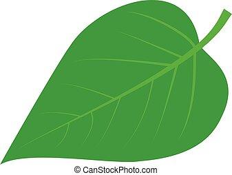 -, orgona, levél növényen