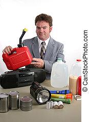 -, orkaan, gas kun, uitrusting