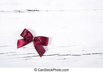 -, orn, boog, kerstmis, rood, briljant