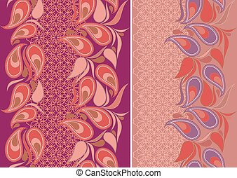 -, paisley, pattern., seamless, verticale