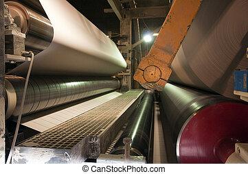 -, papel, planta, molino, pulpa, fábrica