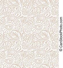 -, papier peint, royal, seamless, vecteur, floral