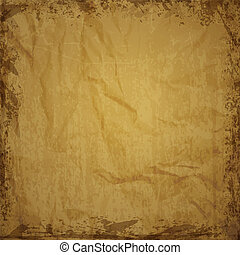 -, papier, texture, brun, sheet.