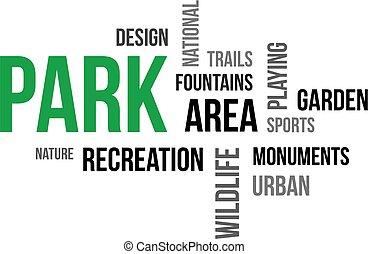 -, park, wolk, woord